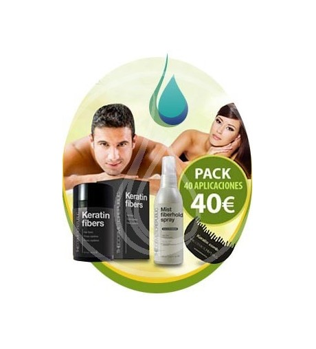 Pack Oferta - 1 Polvos de queratina + 1 mist + 1 comb