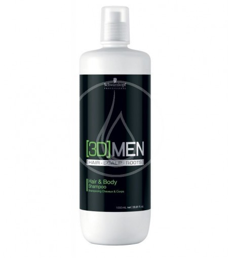 3D Men Hair & Body Shampoo 1000ml