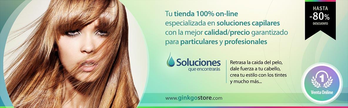 Tienda de productos de peluquería 100% online Ginkgo Store